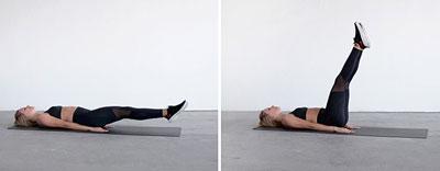 Схема тренировок в домашних условиях на неделю: подъем ног