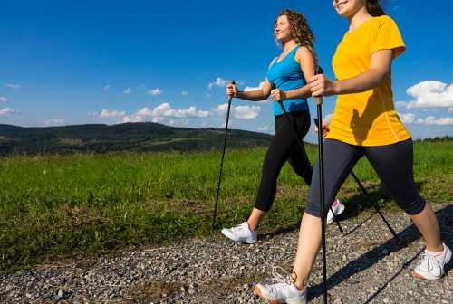 скандинавская ходьба женщинам