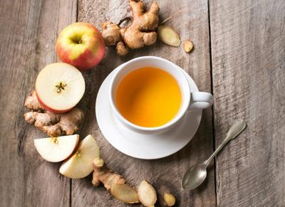 Яблочно-имбирный чай для похудения
