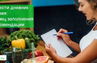 как вести дневник питания