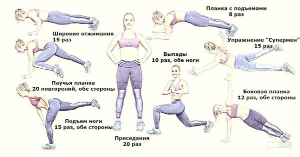 упражнения от целлюлита в домашних условиях