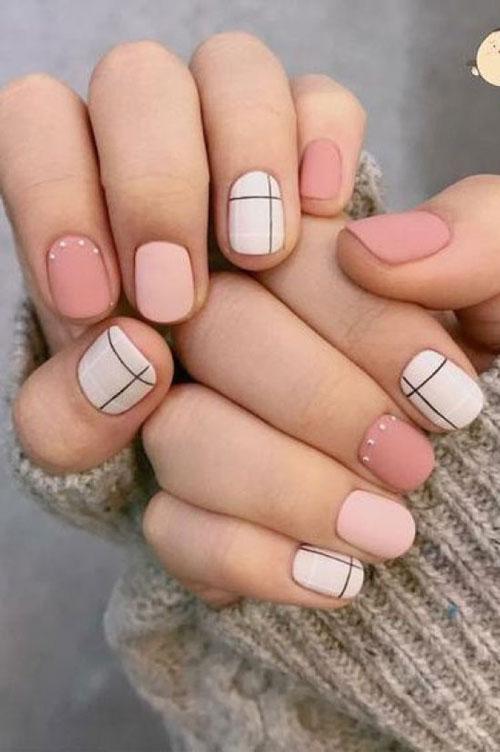маникюр на короткие ногти дизайн осень