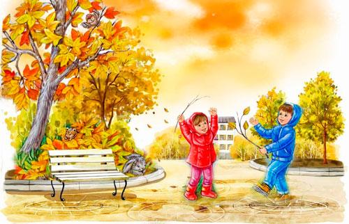 Красивые и короткие стихи про осень для детей 2-3 лет