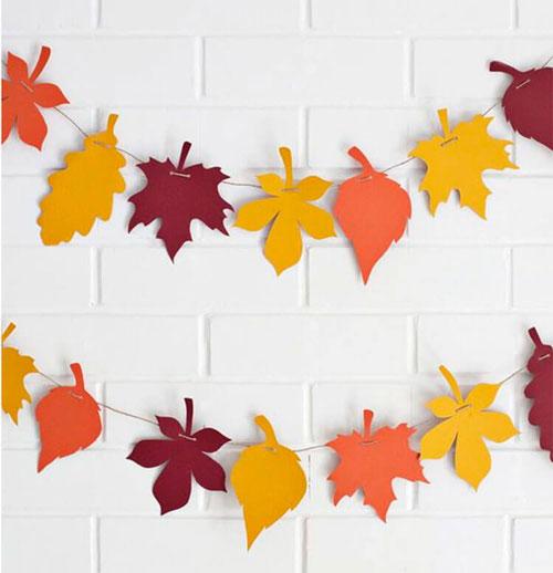 Поделки на тему «Осень» своими руками гирлянды из бумаги