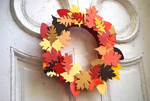 Поделки на тему «Осень» своими руками венок из бумаги