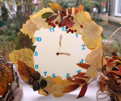 поделка часы на тему Осень