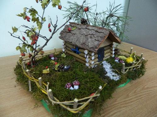 осенняя поделка домик в детский сад своими руками