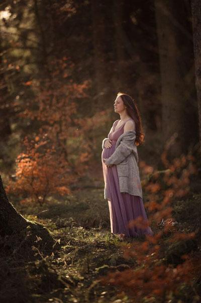 фотосессия беременных осенью на природе идеи фото 3
