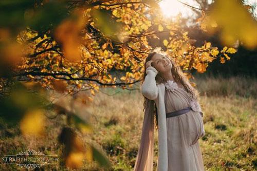 фотосессия беременных осенью на природе идеи фото 2