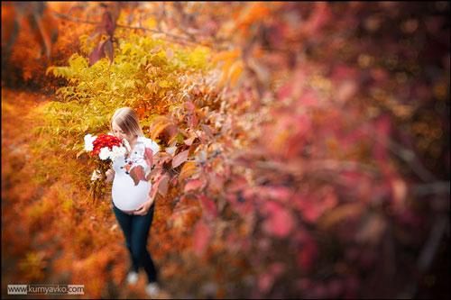 осенняя фотосессия беременных на природе образы 9