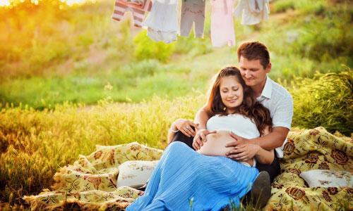 осенняя фотосессия беременных на природе образы 4
