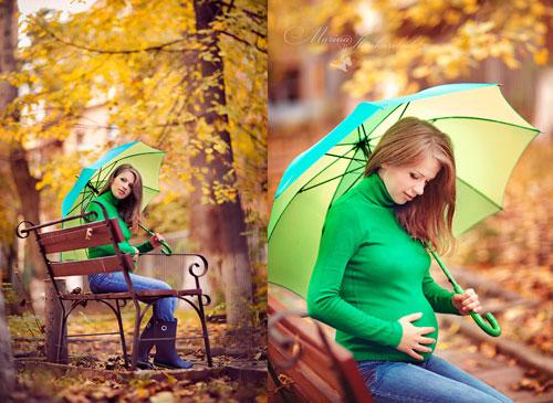 осенняя фотосессия беременных на природе 10