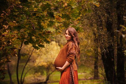 осенняя фотосессия беременных на природе 6