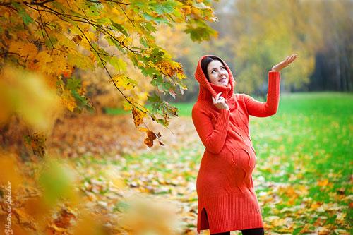 осенняя фотосессия беременных на природе 5