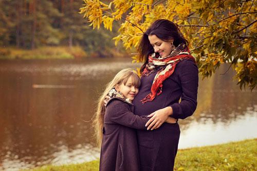 осенняя фотосессия беременных на природе 4