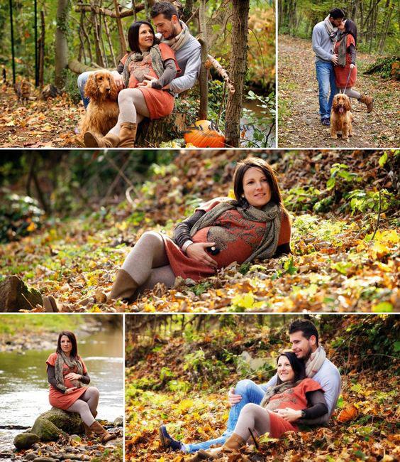 позы для фотосессии беременной на природе осенью фото 8