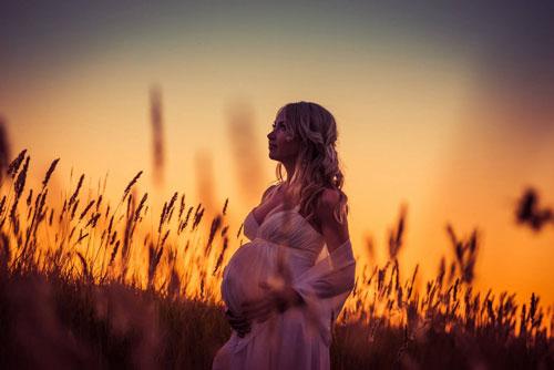 беременная фотосессия осенью на улице