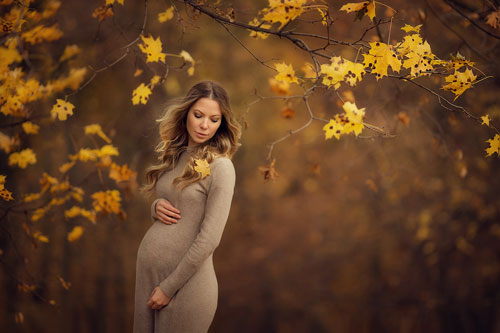 образ для фотосессии беременной осенью