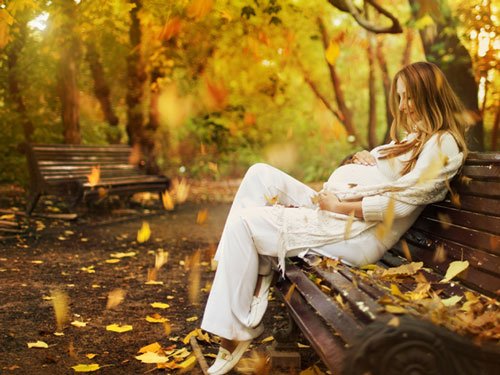 фотосессия беременных в лесу осенью 4