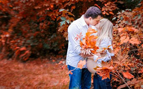 фотосессия беременных на природе осенью образы 2