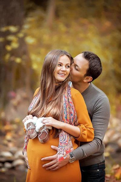 фотосессия беременных на природе осенью образы