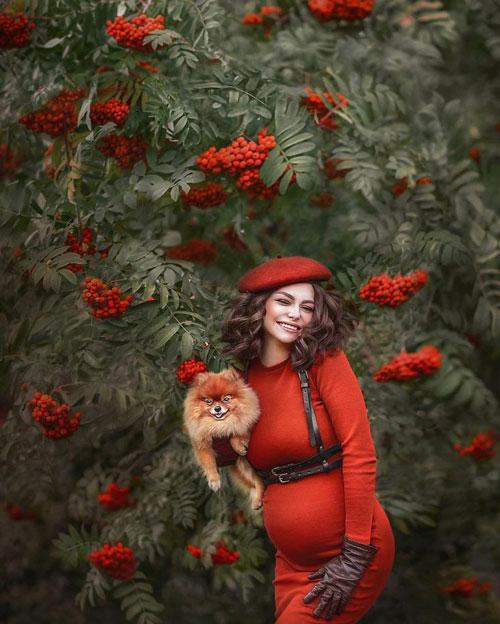 фотосессия беременных осенью на природе идеи фото