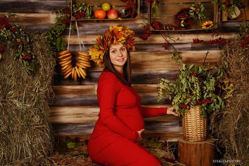 позы для фотосессии беременной на природе осенью 2