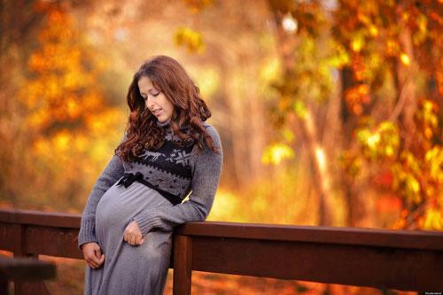 беременная фотосессия осенью с мужем 2