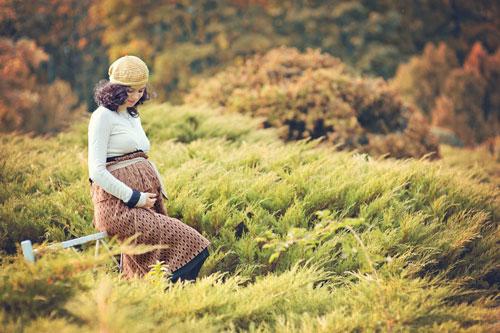 беременная фотосессия осенью с мужем