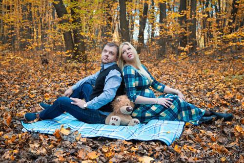 беременная фотосессия осенью с мужем 3