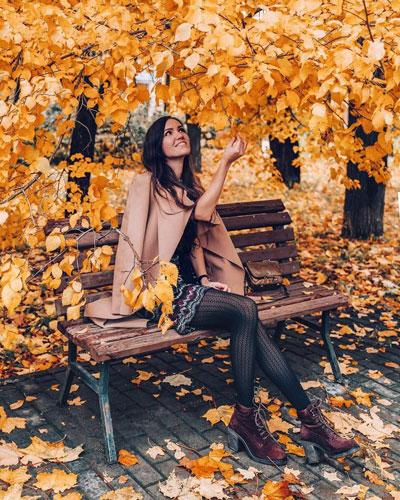 красивая фотосессия для девушки осенью 8