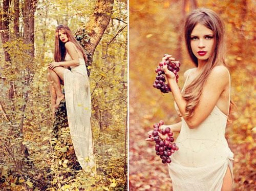 красивая фотосессия для девушки осенью 9