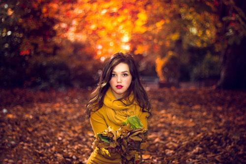 красивая фотосессия для девушки осенью 7