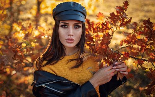 красивая фотосессия для девушки осенью 5