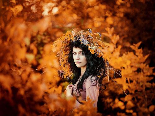 красивая фотосессия для девушки осенью 6