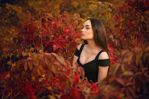 красивая фотосессия для девушки осенью 4