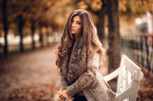 красивая фотосессия для девушки осенью 3