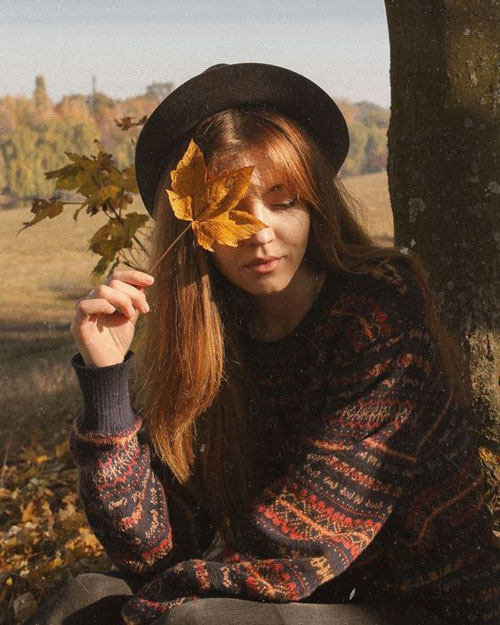 осенняя фотосессия для девушки на природе идеи