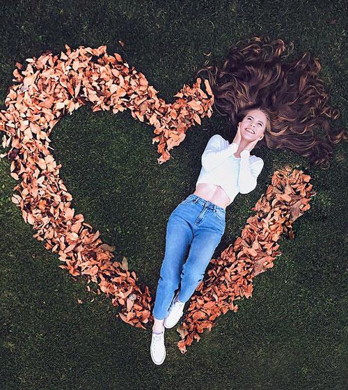 Фотосессия на природе осенью идеи 2