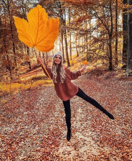 Фотосессия на природе осенью идеи для девушки 3