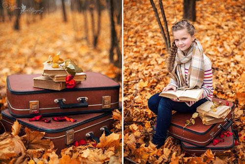 фотосессия на природе осенью идеи для девушки с детьми 2