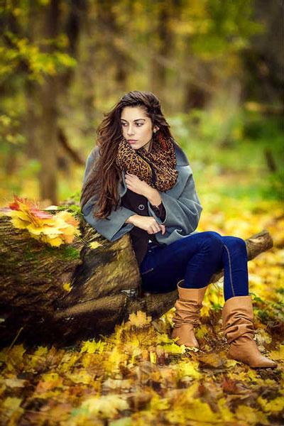 осенняя фотосессия на природе идеи для девушки