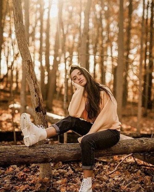 осенняя фотосессия на природе идеи для девушки 2