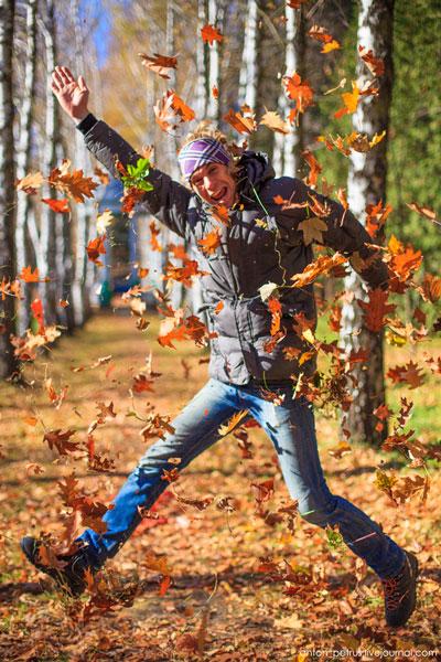 семейная фотосессия осенью на природе идеи фото 4