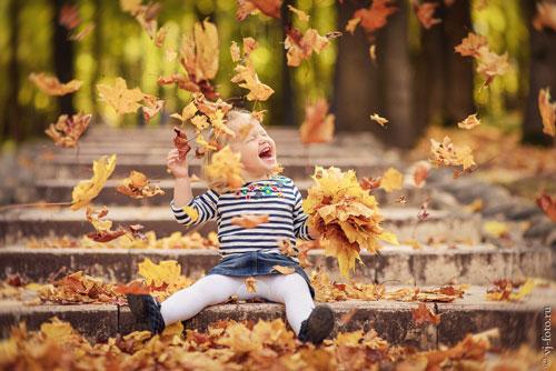 семейная фотосессия осенью на природе идеи фото 3