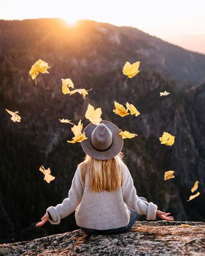осенняя фотосессия для девушки на природе идеи 4
