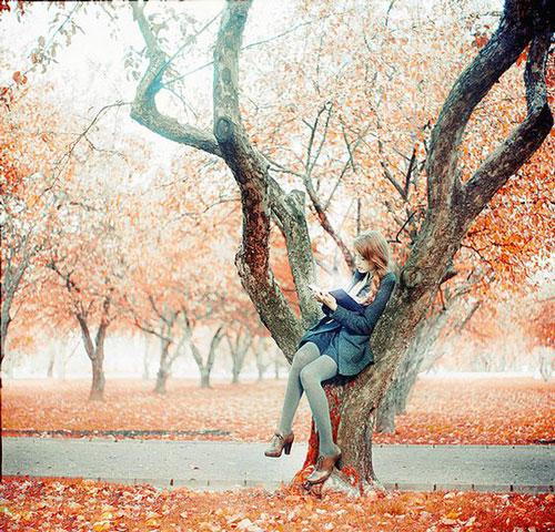 осенняя фотосессия для девушки на природе идеи 6