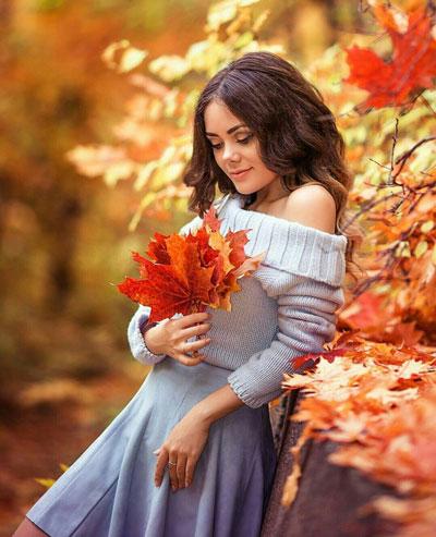 идеи фотосессии для беременных на природе осенью