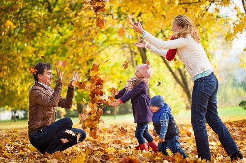 идеи для семейной фотосессии осенью на природе 2