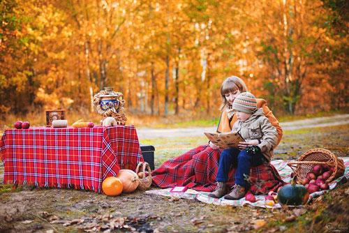 фотосессия семейная на природе осенью идеи оформления 2